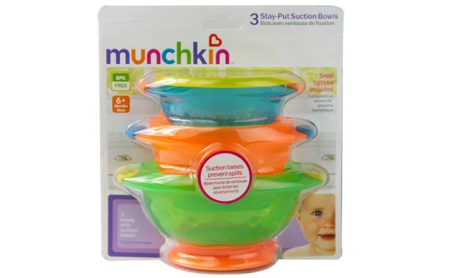 美國Munchkin麥肯齊 寶寶吸盤碗 3只/套