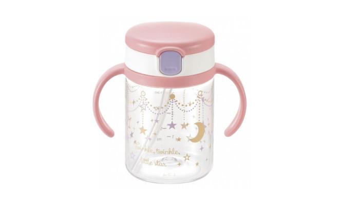 日本Richell吸管水杯及有蓋吸管杯套裝-星辰圖案