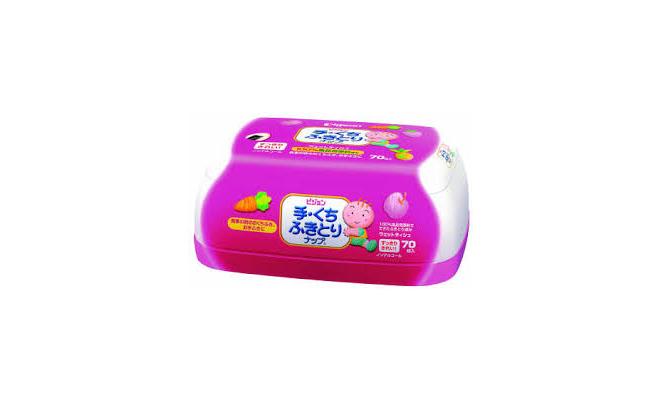 Pigeon手口用盒莊濕紙巾70片 + 70片補充裝2包