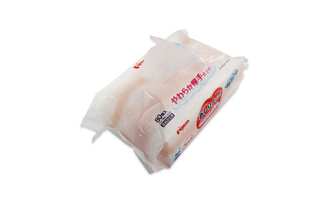 Pigeon 濕紙巾80片盒裝  + 補充裝80片 x 6包