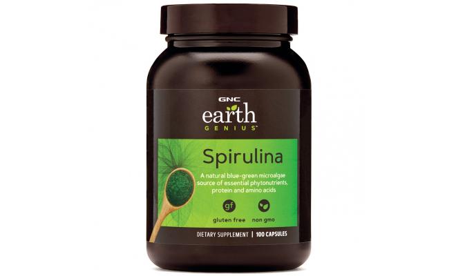 美國GNC Spirulina Superfoods螺旋藻生物素膠囊500毫克[100粒](Exp:2021/08)