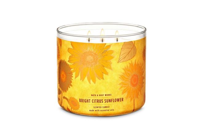 Bath & Body Works SUNFLOWER - 多汁的橘子,金黃色的向日葵和奶油香氣