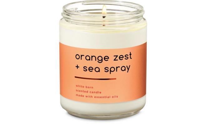 Bath & Body Works單芯Orange zest + sea spray - 鮮榨橙汁,芳香草藥,海浪精油