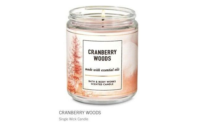 Bath & Body Works單芯 CRANBERRY WOODS  - 蔓越莓,肉桂皮,雪松木,金琥珀精油