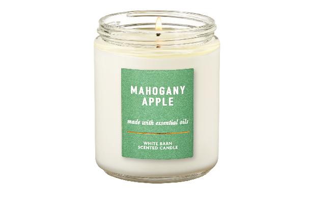 Bath & Body Works單芯 MAHOGANY APPLE - 桃花心木、蘋果、胡椒、薰衣草