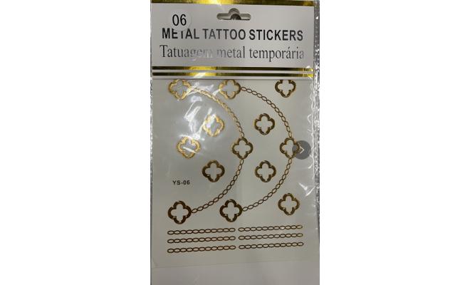 閃耀 金屬 金銀 紋身貼紙 Tattoo #06