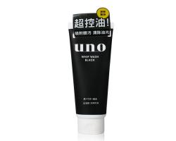 日本Shiseido資生堂UNO吾諾男士洗面乳 黑色控油款