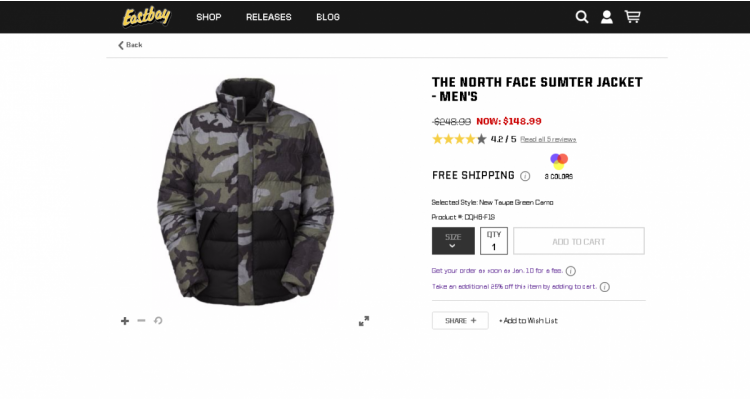 THE NORTH FACE SUMTER JACKET - M
