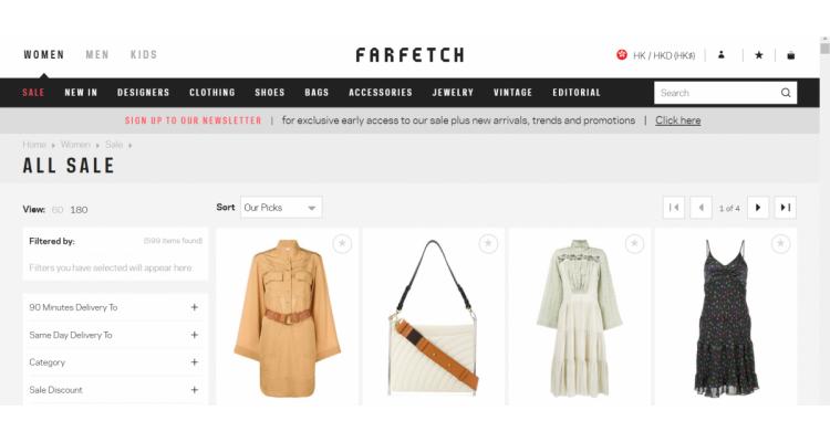 Farfetch 精選新款低至4折+額外8折