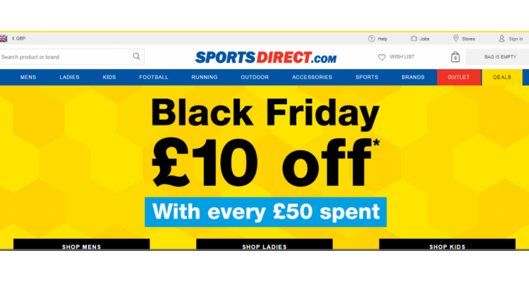 Sports Direct  85% off