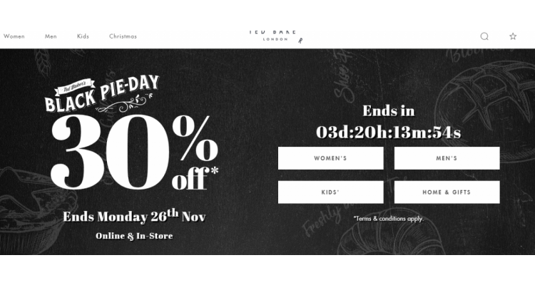 Ted Baker Black Friday UP to 30%