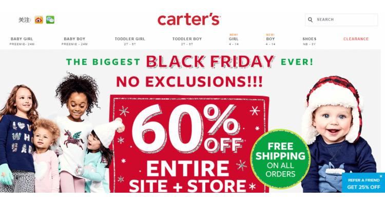 Carter's Black Friday 全場四折!!