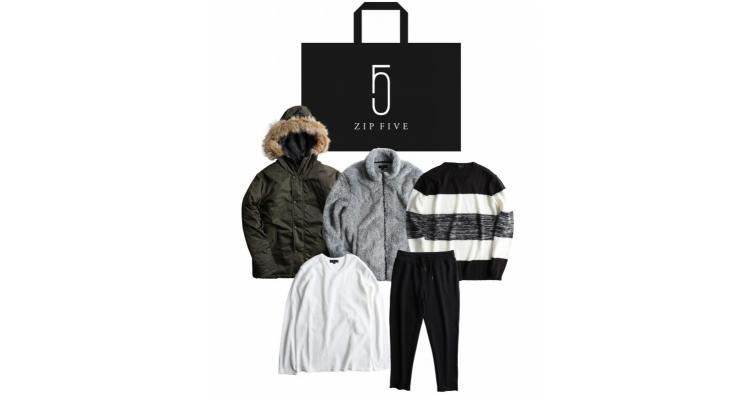 日本男裝品牌 Zip Five 冬季福袋