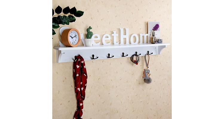钥匙挂钩创意田园挂衣服的架子墙上壁挂玄关衣帽钩装饰置物架卧室