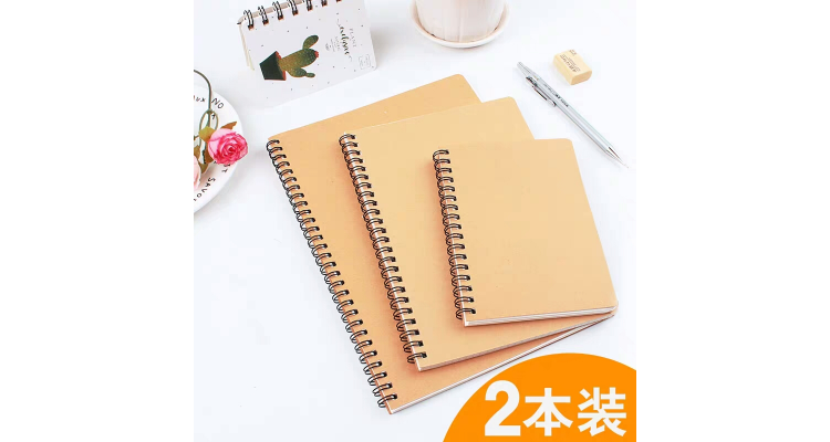 a6a5b5笔记本线圈本小清新韩国简约学生用牛皮记事本小本子方格