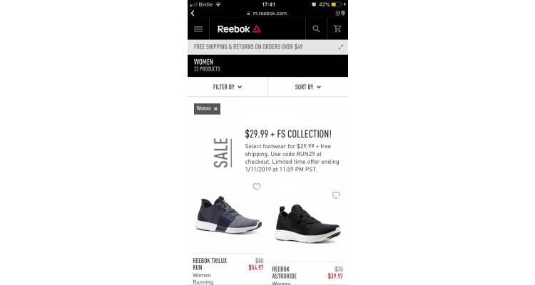 Reebok 官網  sale~