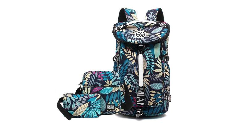 韩版双肩包男时尚水桶包大容量旅行背包女潮流学生书包出行旅游包