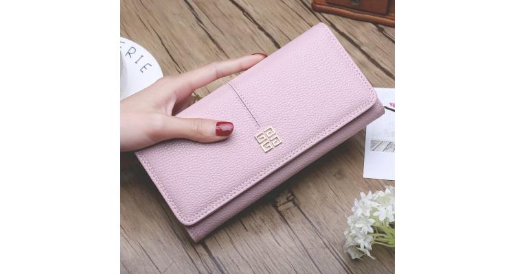 时尚欧美女士长款钱包 搭扣软皮钱夹手机包 拉链零钱包潮青年皮夹