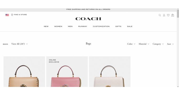 Coach鞋包促銷