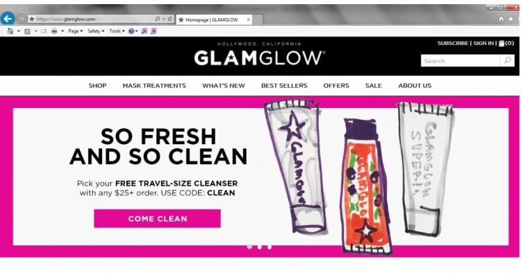 美國 Glamglow 官網買滿$25送旅行裝洗面膏