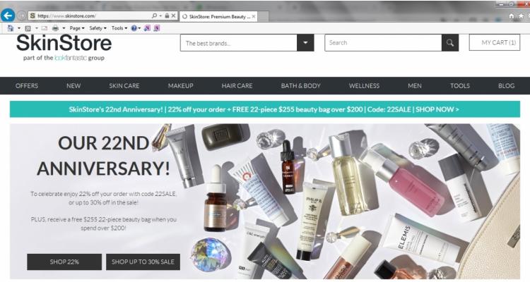 Skinstore 大減價+買滿$200送價值$255美容產品包