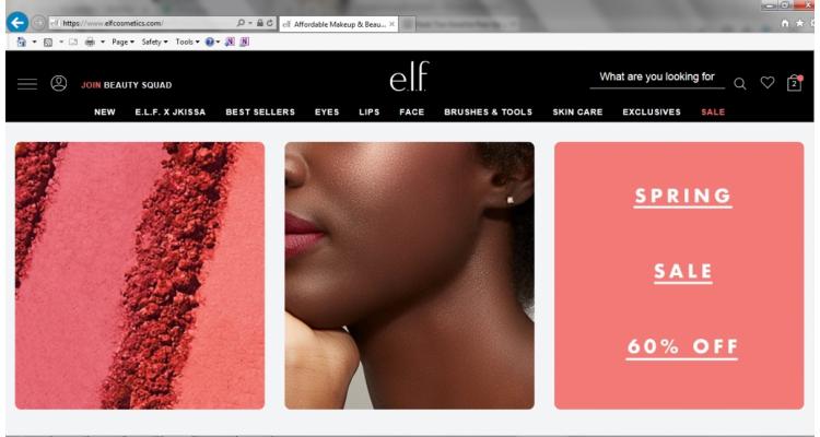 高CP值彩妝品牌E.L.F. Cosmetics春季大減價