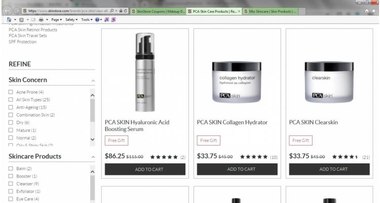 護膚品牌 PCA Skin七五折優惠+滿額送