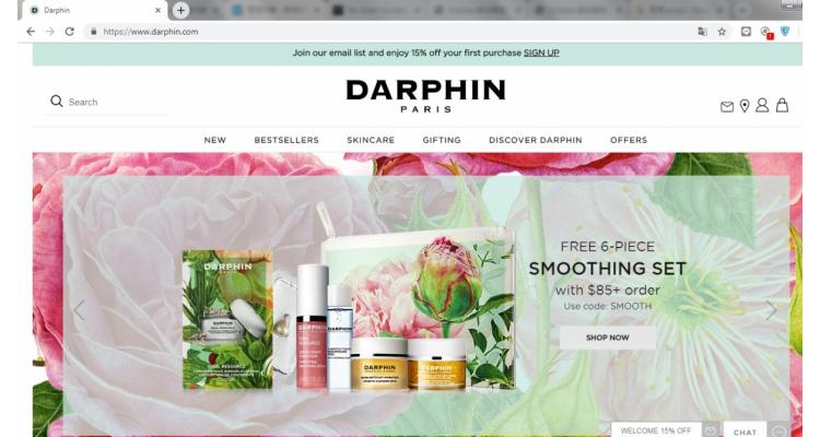 Darphin美國官網滿額送