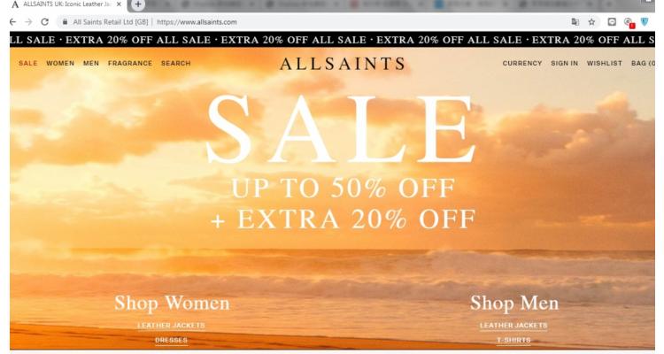 All Saints英國官網Sales區再八折