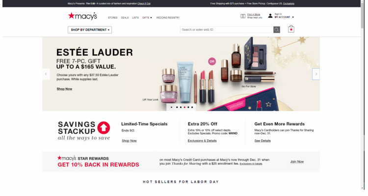 Macys Extra 20% Off, Labor Day