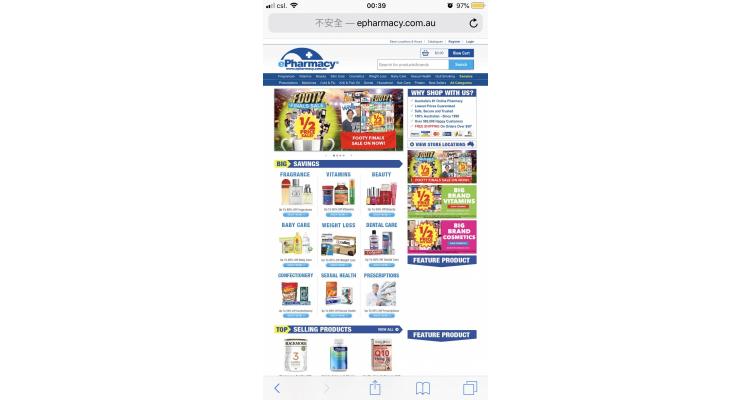 澳洲epharmacy.com藥庒大量貨品半價,超低!