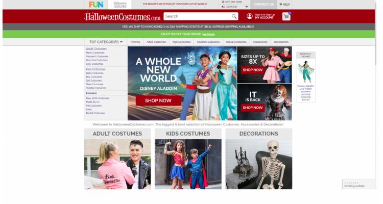 Halloweencostumes.com 15% OFF