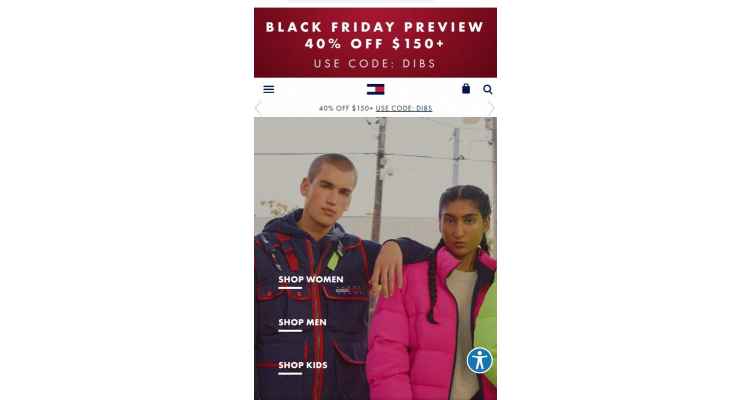Tommy Hilfiger BLACK FRIDAY預演