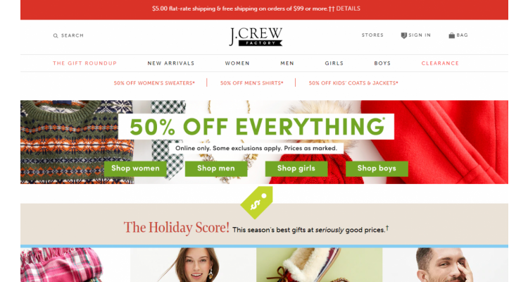J crew factory sale