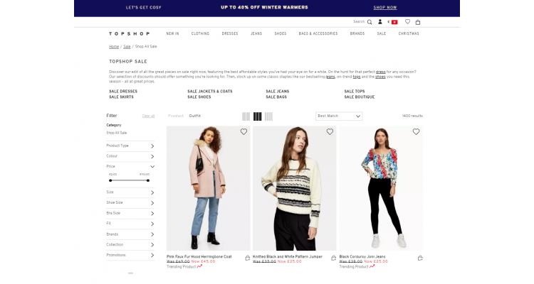 Top shop sale