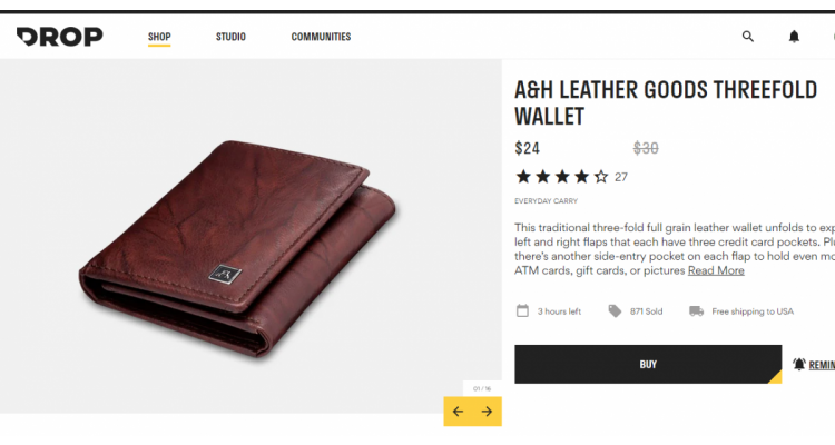 A&H Leather wallet