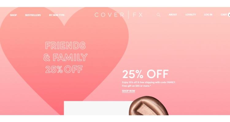 CoverFX美國官網全網25%OFF+滿額送