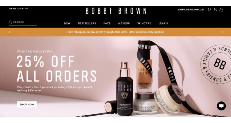 Bobbi Brown美國官網全網25%OFF+滿額送