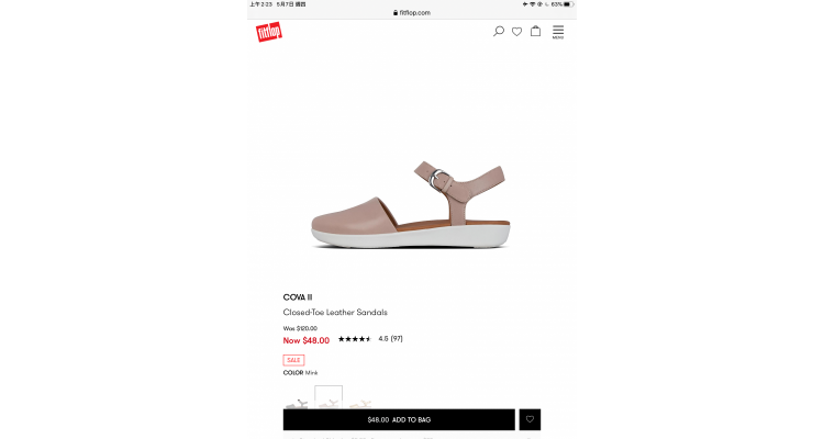 Leather sandals 40% off