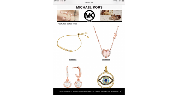 Michael Kors Jewl. Free earrings