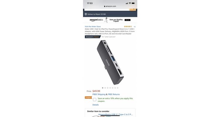 Anker USB-C iPad Pro 6合1拓展特價