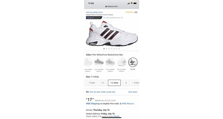 adidas Strutter Cross 男士運動鞋 特價