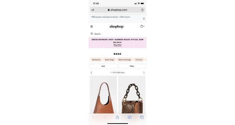 Shopbop.com 低至4折。