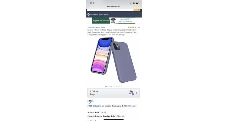 Kocuos iPhone 11 液體硅膠保護殼特價