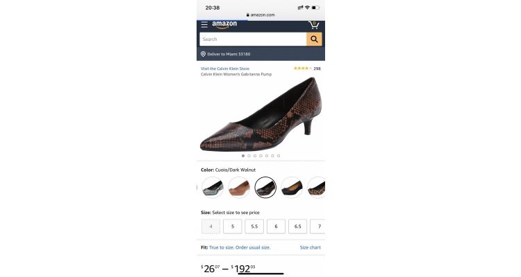 Calvin Klein 女士蛇紋高跟鞋特價
