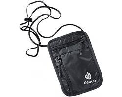 Deuter黑色証件錢包(二間隔,連可調節長度的幼肩帶)