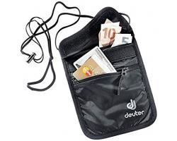 Deuter黑色証件錢包(三間隔,連可調節長度的幼肩帶)