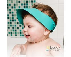 BBLUV 矽膠幼兒浴帽 粉藍色
