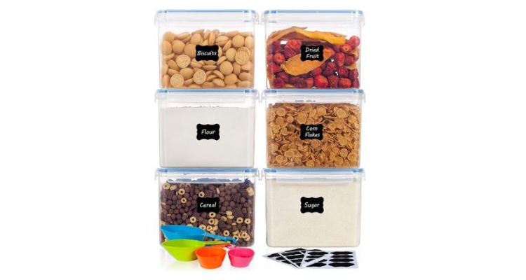 HOOJO 塑膠食物保鮮儲存盒 6件套