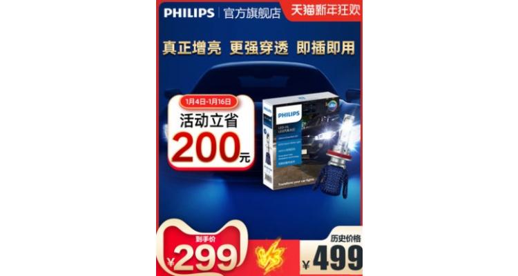 Philips車前燈減200